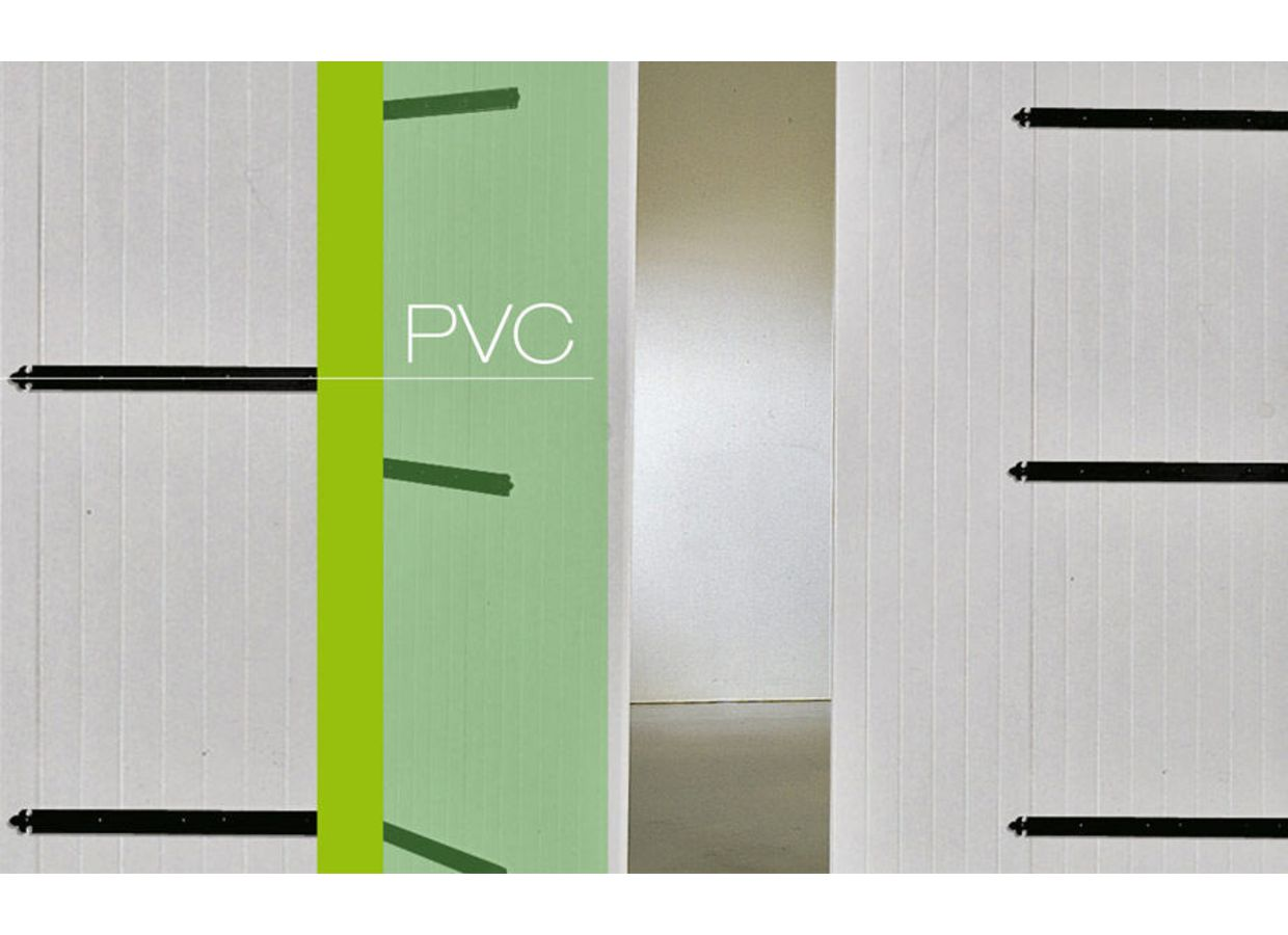 Porte de garage pvc battante ext rieur for Porte de garage battante