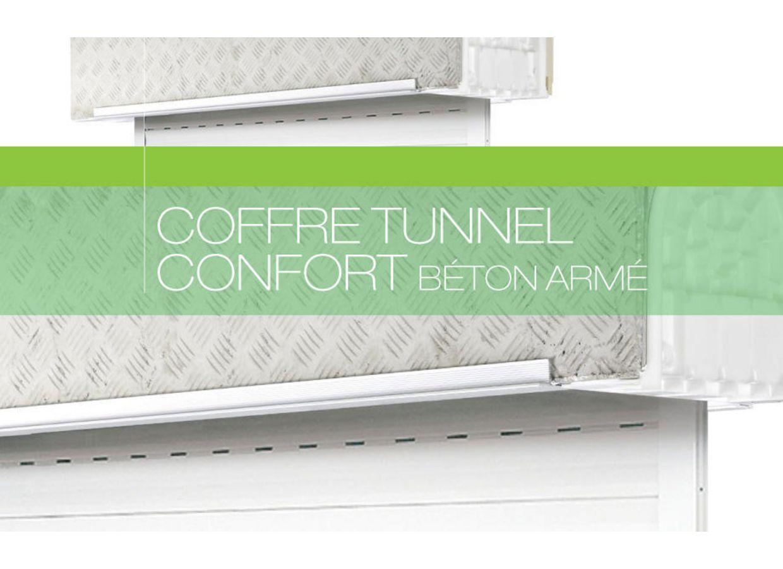 Coffre tunnel b ton avec volet roulant confort fen tres - Lapeyre fenetre pvc avec volet roulant ...