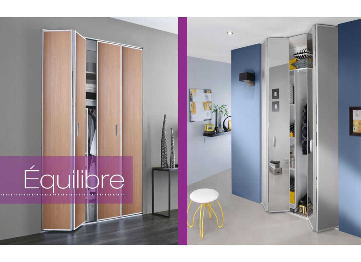 Portes pliantes equilibre rangements for Porte accordeon lapeyre