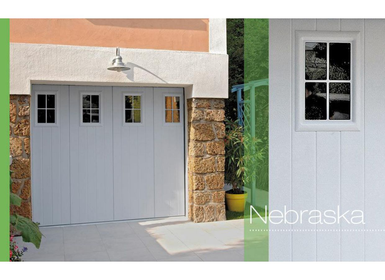 Porte de garage nebraska coulissante ext rieur for Porte coulissante exterieur