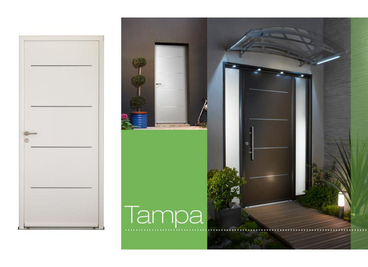 porte d 39 entr e tampa aluminium portes. Black Bedroom Furniture Sets. Home Design Ideas