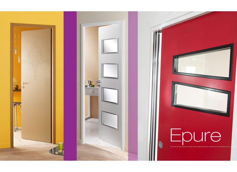 Bloc porte epure personnalisable portes for Porte seule interieure