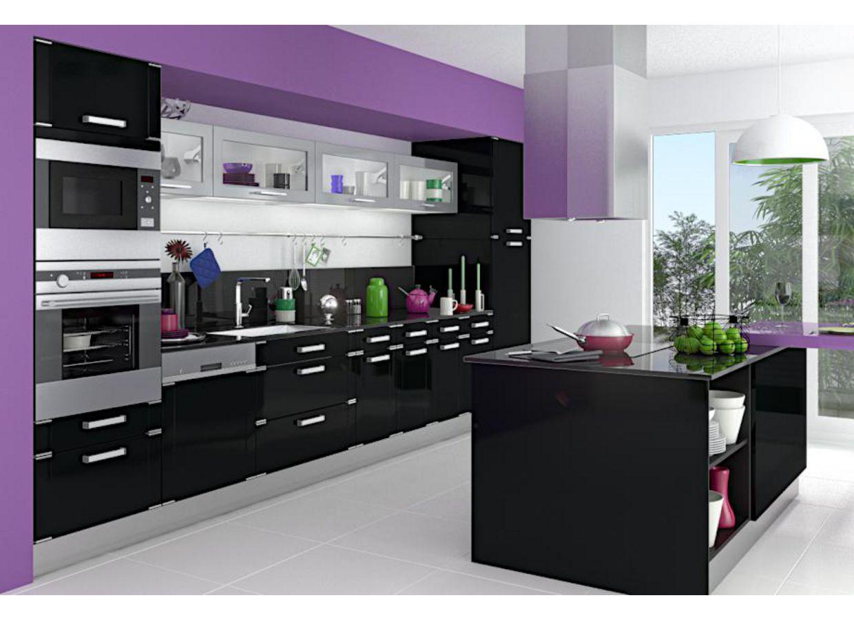 Cuisine quipe violet cuisine equipee prix discount 11 le for Cuisine equipe noir