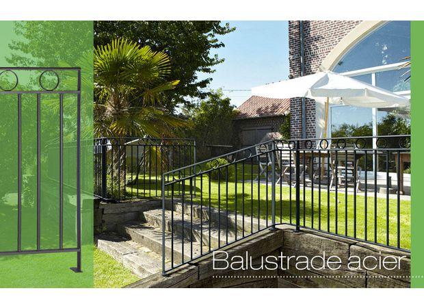 balustrade acier breteuil batignolles ext rieur jardin. Black Bedroom Furniture Sets. Home Design Ideas
