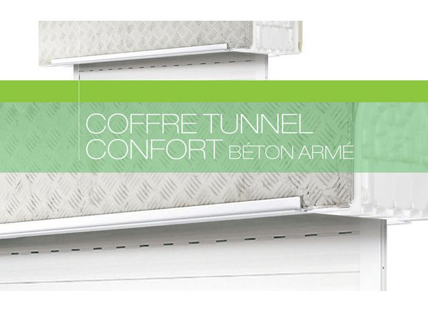 coffre tunnel b ton avec volet roulant confort fen tres. Black Bedroom Furniture Sets. Home Design Ideas