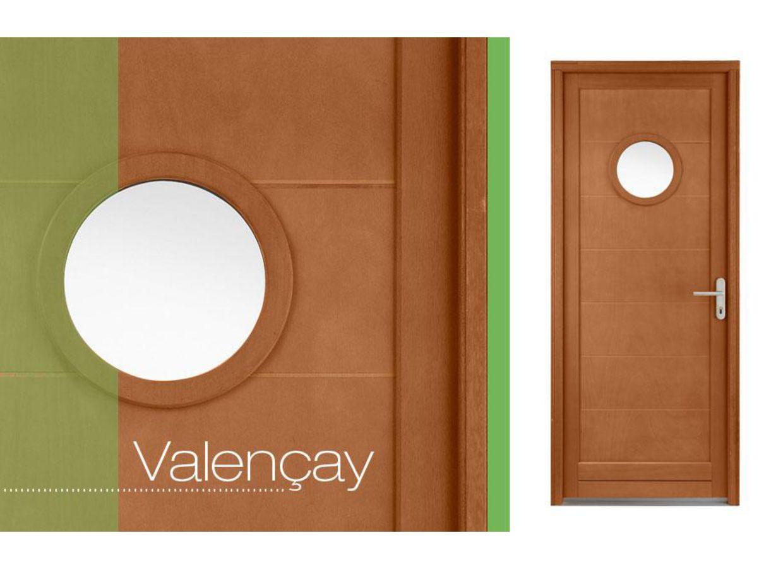 Porte de service valencay hublot bois exotique 2 toiles for Porte de service bois lapeyre