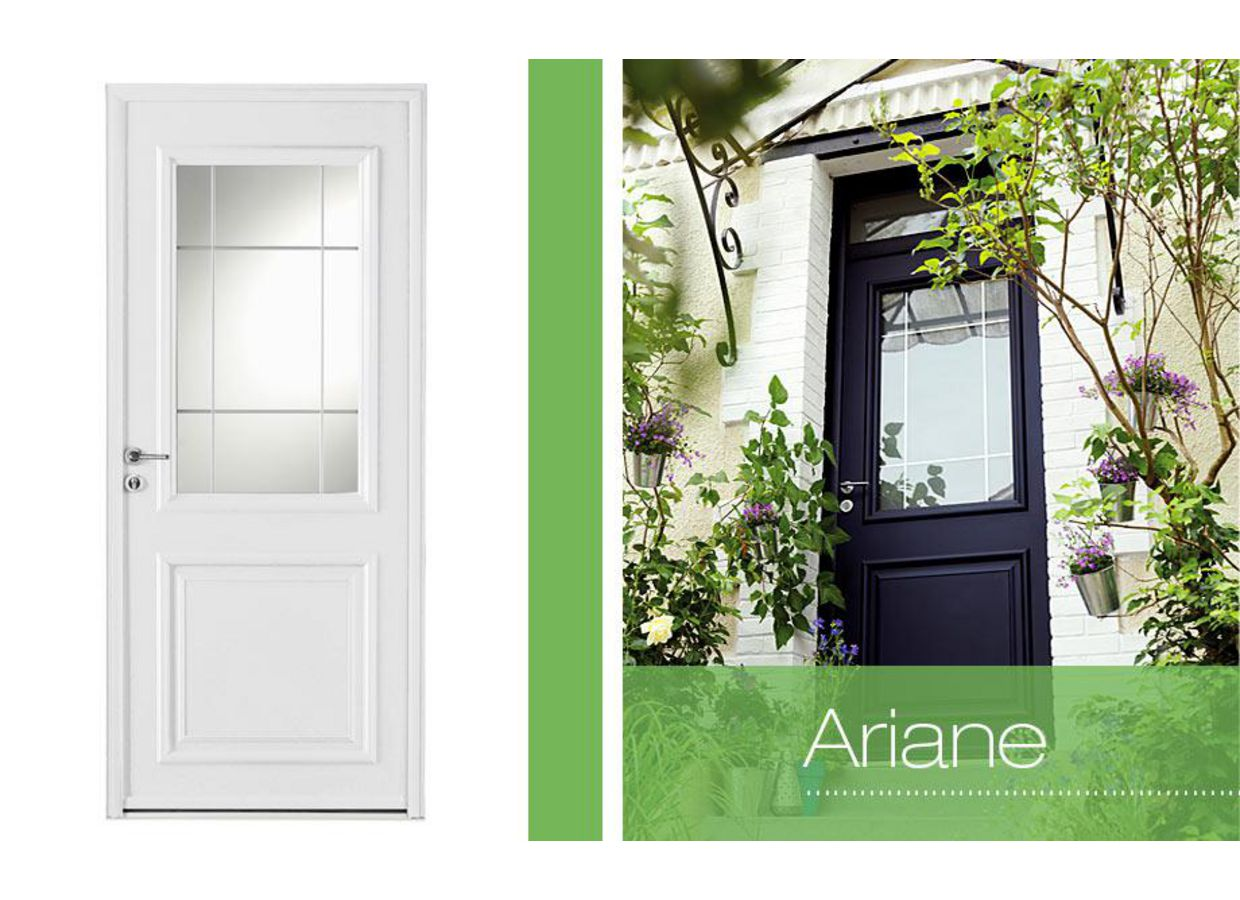 porte d 39 entr e ariane aluminium portes. Black Bedroom Furniture Sets. Home Design Ideas
