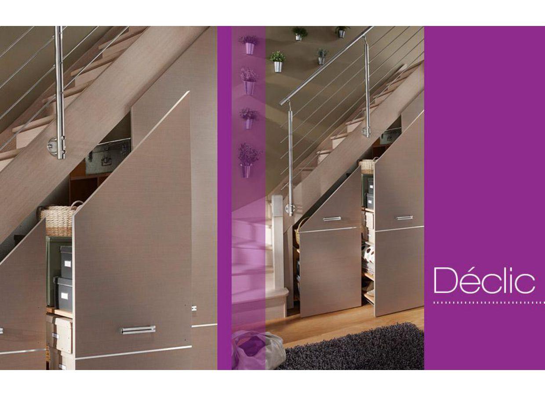 portes coulissantes d clic sous escalier rangements. Black Bedroom Furniture Sets. Home Design Ideas