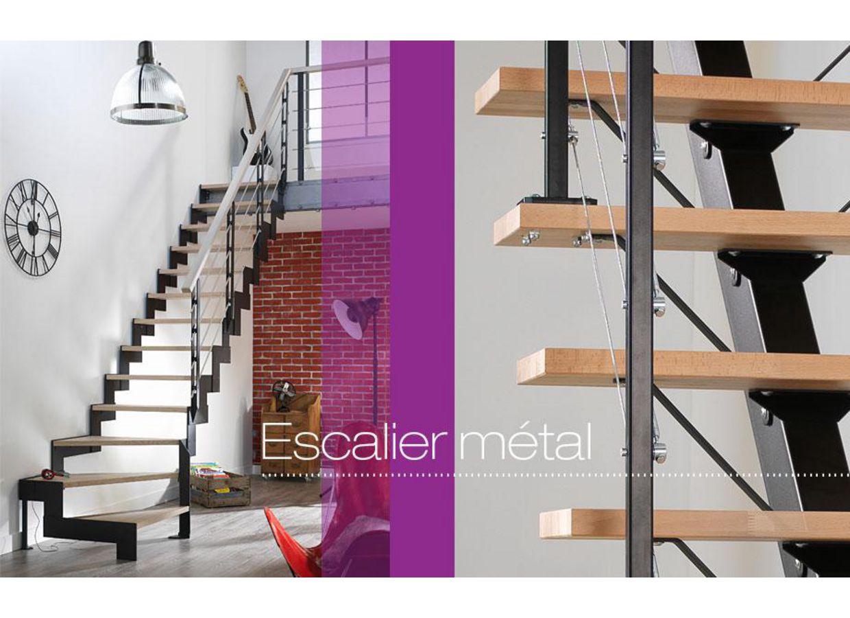 Escalier 1 qt m tal personnalisable escaliers - Lapeyre escaliers interieurs catalogue ...