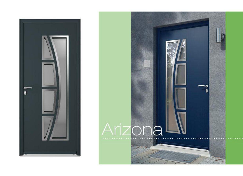 Porte d 39 entr e arizona aluminium portes for Porte entree aluminium lapeyre