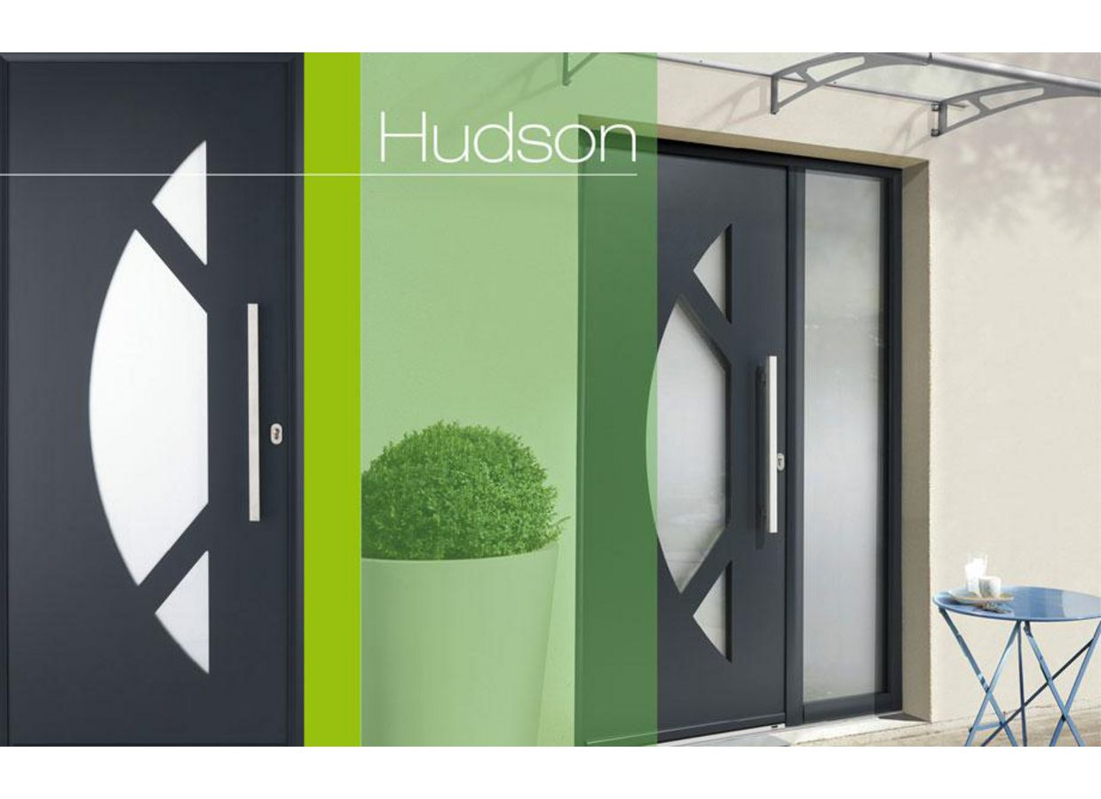 porte d 39 entr e hudson aluminium portes. Black Bedroom Furniture Sets. Home Design Ideas