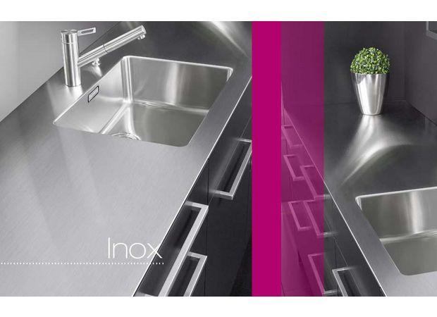 Plan de travail inox sur mesure cuisine - Plan de travail imitation inox ...
