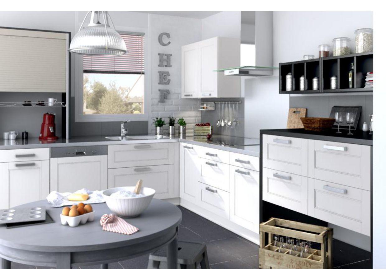 cuisine fjord vanille ? francemobilier.com - Meuble Cuisine Couleur Vanille
