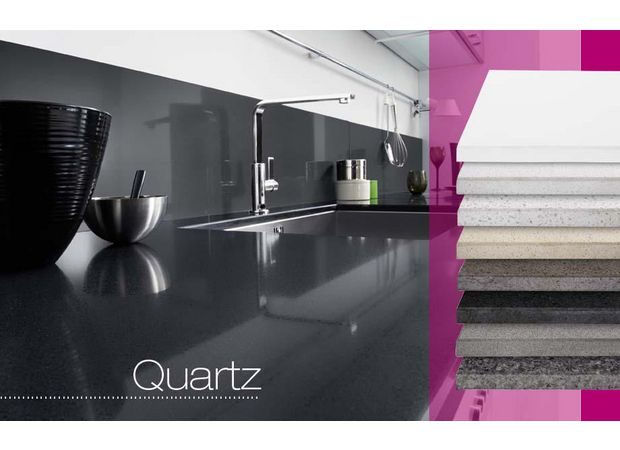 plan de travail quartz sur mesure cuisine. Black Bedroom Furniture Sets. Home Design Ideas