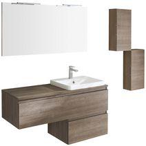 meuble pour vasque semi encastr e centr l 90 cm evasion bain. Black Bedroom Furniture Sets. Home Design Ideas
