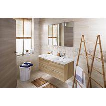 ensemble meuble de salle de bains plan r sine avec robinetterie cm fokus bain. Black Bedroom Furniture Sets. Home Design Ideas