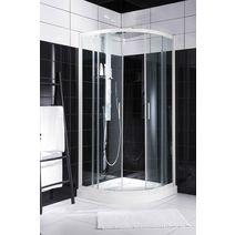Bac douche 1 4 de cercle sur l v sigma salle de bains for Porte coulissante arrondie