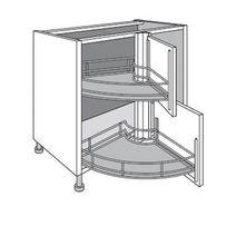 Des rangements gain de place pour une cuisine astucieuse - Rangement pivotant element d angle ...