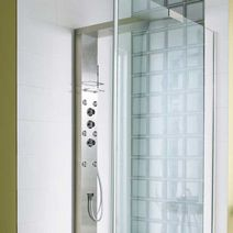 colonne de douche hydromassante glass bain. Black Bedroom Furniture Sets. Home Design Ideas