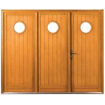 Les portes de garage pliantes for Porte de service lapeyre bois