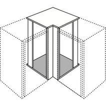 meuble de cuisine d 39 angle bas 2 tourniquets urban cuisine. Black Bedroom Furniture Sets. Home Design Ideas