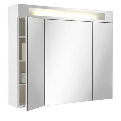 Armoire de toilette fluo tryptique salle de bains - Armoire salle de bain miroir triptyque ...