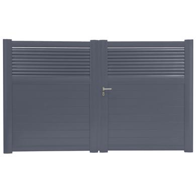 Portail Battant Aluminium Dolomite Ajour Ext Rieur Jardin