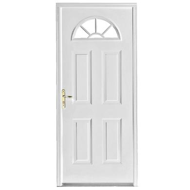 Porte d 39 entr e charlotte acier 1 toile portes for Largeur porte d entree standard
