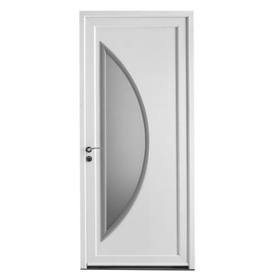 Porte d 39 entr e paimpol pvc portes for Largeur porte d entree standard