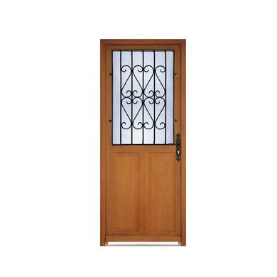 Porte d 39 entr e savigny bois exotique avec grille portes - Porte d entree bois exotique ...