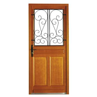 Porte d 39 entr e valli re bois exotique portes for Joint pour porte d entree