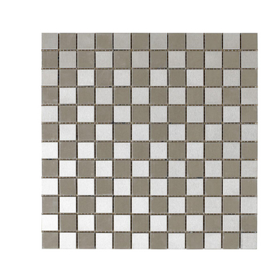 Carrelage mosa que inox unik 2 5 x 2 5 cm trame sols murs for Carrelage unik