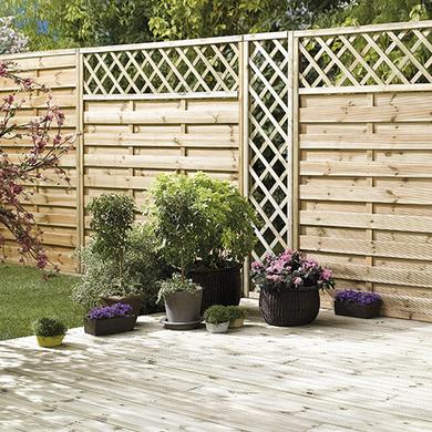 panneaux en bois ext rieur jardin lapeyre. Black Bedroom Furniture Sets. Home Design Ideas