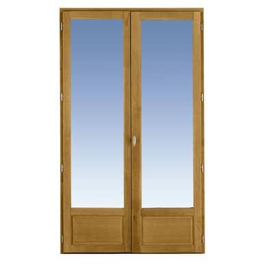 Porte fen tre classic ch ne 2 vantaux cl fen tres - Dimension porte fenetre 2 vantaux ...
