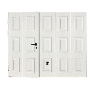 porte de garage noviso basculante isolante manuelle avec portillon ext rieur. Black Bedroom Furniture Sets. Home Design Ideas