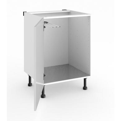 Meuble de cuisine bas sous vier 1 porte cuisine - Lapeyre meuble sous evier ...