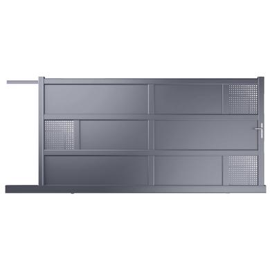 Portail Coulissant Aluminium Lugano Moteur Int Gr