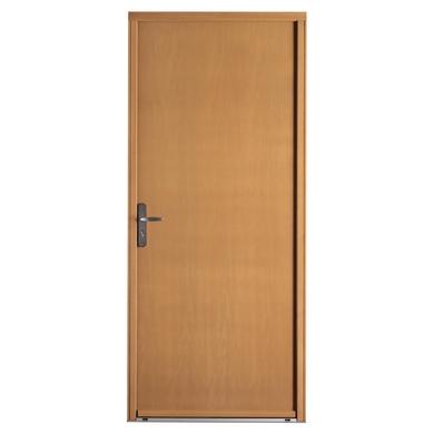 Porte d'entrée *** bois exotique Skara Ud 1.0 à barillet H.215 x l.90 droite