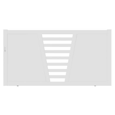 Portail coulissant PVC CARNAC avec accessoires 160 x l.400 gauche