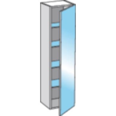 Colonne avec miroir l 40 cm evasion salle de bains for Miroir largeur 40 cm