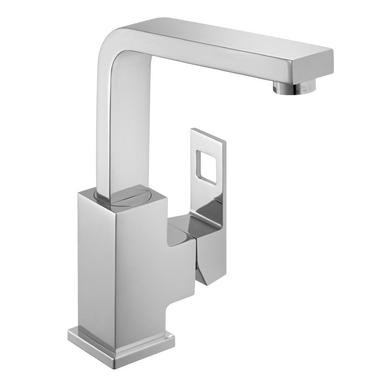Mitigeur lavabo petit modèle EUROCUBE chrome bec haut
