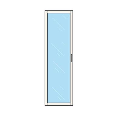 Porte battante vitrée aménagement ESPACE chêne strié H.196,6 x l.60