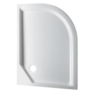 Receveur Horizon acryl blanc extraplat à encastrer L.120 x l.90 version gauche