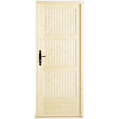 Porte de service romilly sapin portes - Hauteur standard poignee de porte ...