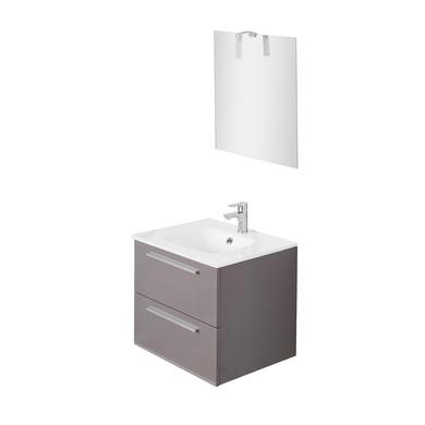 ensemble meuble de salle de bains plan verre sans
