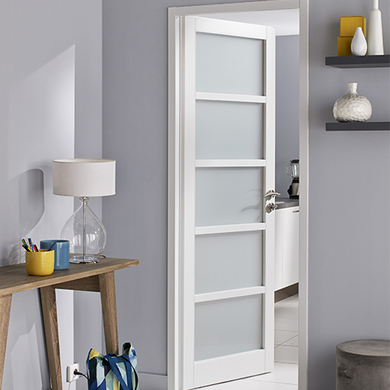 Portes battantes portes lapeyre for Porte interieur double vitree