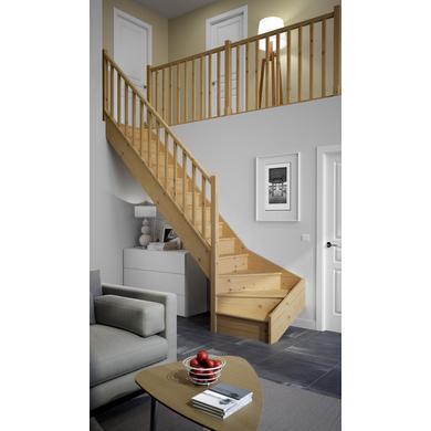 escaliers qt bas bois standard escaliers. Black Bedroom Furniture Sets. Home Design Ideas