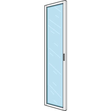 Porte battante vitrée aménagement ESPACE chêne strié H.219 x l.60