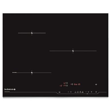 Table induction noir 3 foyers De Dietrich DPI7574XP