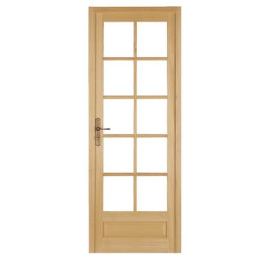 Bloc-porte Bois exotique HABITAT à vitrer Huisserie 90 - H.204 x l.83 droit